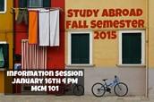 Fall Semester 2015 Info Session