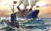 May 7, 1915- U-boat sunk the Lusitania