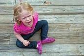 Baby having a temper tantrum