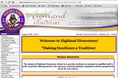School Center Webpage