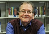 Frederick Blanch visits the Algona Public Library