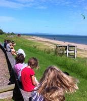 Watching Kite Boarding on our doorstep!