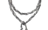 Adrienne Mixed Chain necklace- Silver
