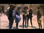 Mercutio talking to Romeo