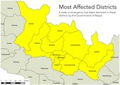 most affected areas