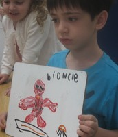 Using words and pictures to communicate our thoughts.