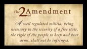 Second Amendment: Right to keep and bear arms
