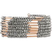 Bardot Spiral Sparkly Bangle (Rose Gold & Hematite)