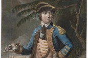 A painting of Benedict Arnold at the battle.