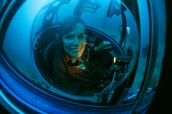 Sylvia Earle is in a submersible