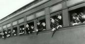 Children riding the orphan train