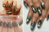 "egyptian nail art called ""king tut day"""