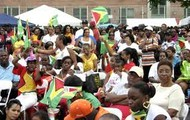 Guyanese family gathering for a celebration