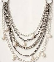 Avery Pearls and Chains Necklace