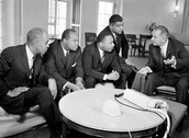 President Johnson speaks with Civil Rights Leaders