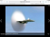 Sonic boom from fighter jet