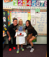 Pic 3: BGSU Women's Soccer players visited Frank students today participating in the EYAS program. What a great surprise!:)