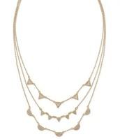 Pave Chevron Necklace - Gold