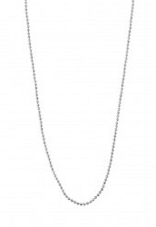 """30"""" Faceted Ball Chain - Silver"""