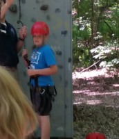 Mason is ready to climb!