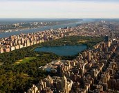 Central Park with the Hudson River in the Background