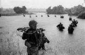 Soldiers in water