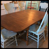 Wood Drop Leaf Table with Expansion Leaf - $450