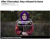 After Chernobyl, they refused to leave