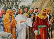 Jesus with his deciples