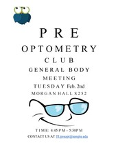 Pre-Optometry Club First General Body Meeting