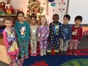 PM Class in their pajamas