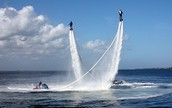 Flyboard show