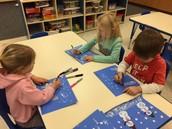 Snowman paintings