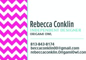 Rebecca Conklin~ Origami Owl Independent Designer
