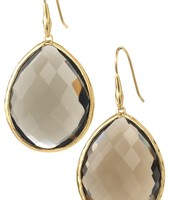 Serenity Stone Earrings - Smokey