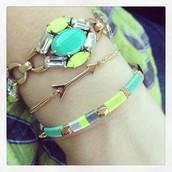 Jardin Bracelet (top) $59,  Wishing Bracelet Arrow (Middle) $19