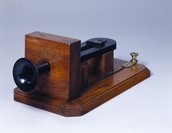Part of the first telephone