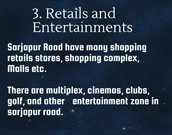 Retails and Entertainments