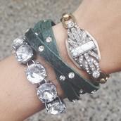 Crystal Studded Multi-wrap bracelet