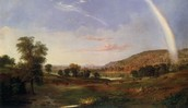 "Robert Scott Duncanson  ""Landscape with Rainbow"""