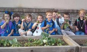 Pre-K Class With Their Radishes