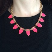 Eye Candy Necklace (Hot Pink)- $20