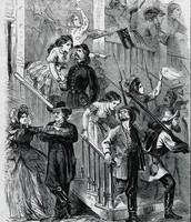 Jefferson Davis drives away the Mob