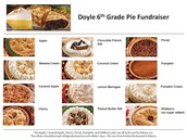 6th Grade Pie Orders