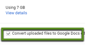 Covert to Google Docs