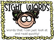 Letters, Vocabulary, and Sight Words for this week: