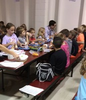 Principal Ward ate lunch with our class!