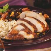 los frijoles de negro con el pollo