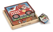 Rompecabezas de cubos madera - Vehículos