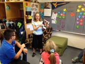 Kelsey sharing her favorite book in a book talk
